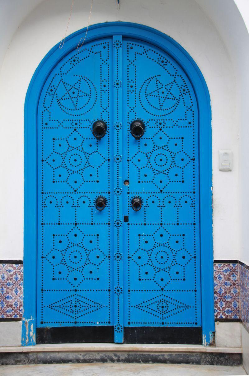 Tunis sidi bou sa d portes et balcons 1 for Decoration porte sidi bou said