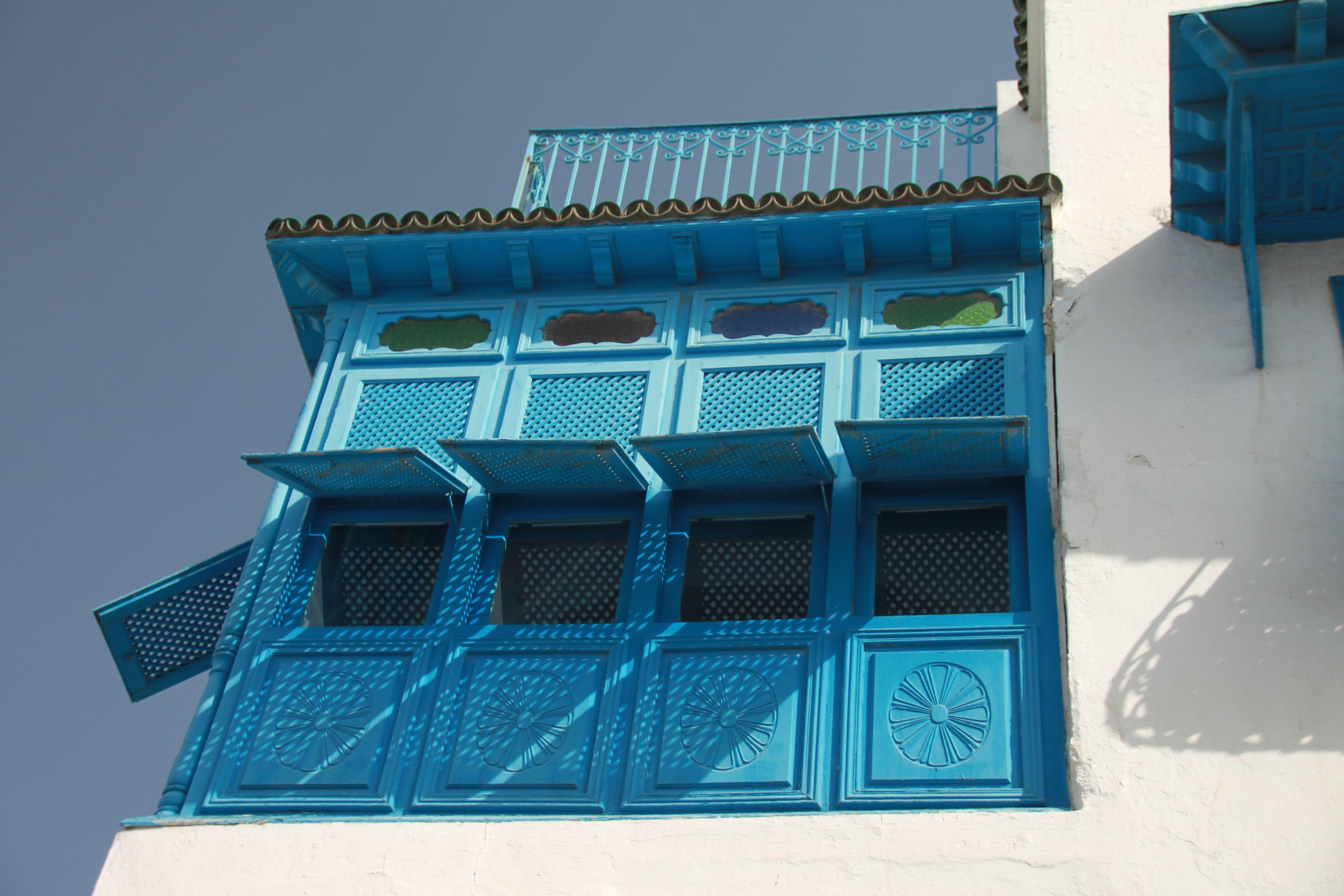 Tunis sidi bou sa d portes et balcons 3 for Decoration porte sidi bou said