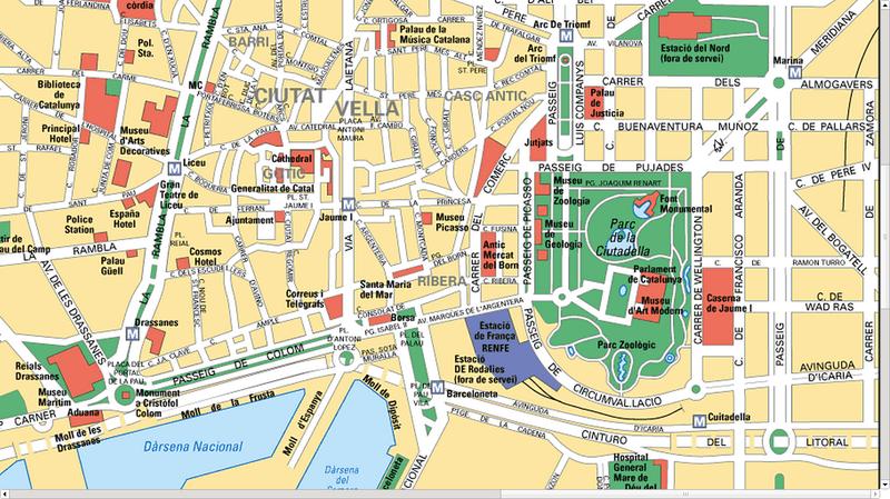 barcelone catalogne 2015 plan de ville